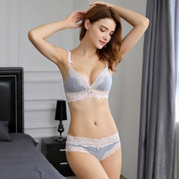 Women's Intimates Collection Here Japanese Style Lace Bow Decorating Sexy Bra Set Cotton Cup Adjustment Deep V Lolita Cute Girls Bras Lingerie Underwear Women Underwear & Sleepwears