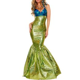 Women Costumes UK - Mermaid Costume Women Halloween Adult Party Dress up Cosplay Outfit