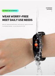 Plastic Red Heart Australia - 2019 new M3 color screen smart bracelet heart rate monitoring information push bluetooth sports bracelet