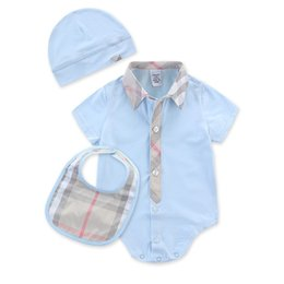 Blue Zebra Clothes UK - Baby short-sleeved Rompers Romper 100% cotton baby summer clothes 0-24 months newborn Baby Romper