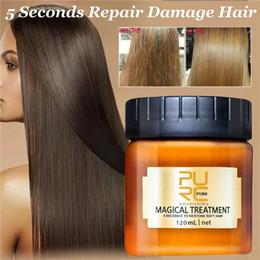 Hair typing online shopping - PURC Magical Treatment Mask ml Second Repairs Damage Restore Soft Hair Essential for All Hair Types Keratin Hair Scalp