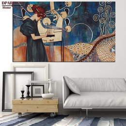 Giclee Print Canvas Paintings Australia - Home Decor Painting Calligraphy DPARTISAN Huge Gustav KLIMT giclee print CANVAS WALL ART decor poster oil painting print on canvas for