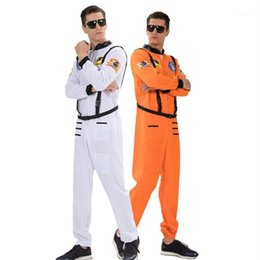 male full belt Australia - Fashion Homme Stage Wear Astronauts Mens Cosplay Clothes With Belt Halloween and Fancy Dress Party Clothes