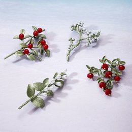 Fruits brooches online shopping - Fashion new plant brooch white fruit red fruit retro green brooch jewelry dress coat accessories jewelry gifts