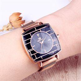 Discount starry sky clock - Square Ladies Wrist Watches Magnetic Starry Sky Female Clock Leather Quartz Watch Elegant Women Bracelet Watch Montre Fe