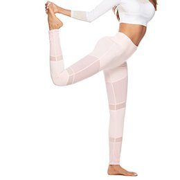 $enCountryForm.capitalKeyWord Australia - Ins pink blackgauze workout tights yoga leggings with high waists pantyhose yoga sport gym leggings for ladies laternity clothes Mommy pants