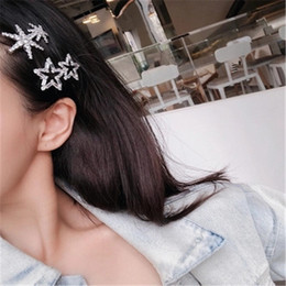 $enCountryForm.capitalKeyWord NZ - 2019 New 1 pc Fashion Hair Barrette Snowflake Star Shape Hairpins Accessories For Women Girls Crystal Hairclip Ornaments