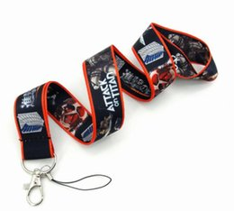 Wholesale Attack on Titan Cell Phone Mobile Chain Straps Keychain Charm Cords DIY Rope Cartoon Lanyard for Keys Phone Strap