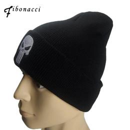 $enCountryForm.capitalKeyWord Australia - Fibonacci The Punisher Cool Black Skulls Winter Warm Beanie Men Skeleton Justiceiro Castigador Adult Teenagers Boy Knitted Hat