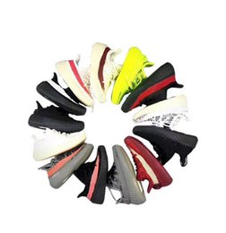 Brand Boys Shoes UK - Designer Brand 350 Kids Shoes Baby Toddler Run Kanye West Running Trainers Butter Semi Zebra V2 Children Boy Girl Beluga 350s 2.0 Sneakers