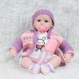 Toptan satış 45CM Hairband Elbise Yenidoğan bebek emziği 17.7 '' Vücut Doll İçin Erkekler Kızlar Prenses Prens sürpriz 17.7inch Reborn Silikon Kuklalar