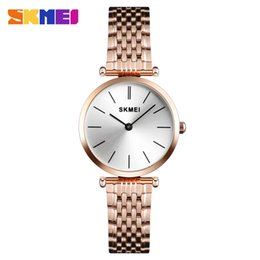 SKMEI 1458 Fashion Women Watch Quartz Wristwatches Luxury Casual Waterproof Ste'e'l Watches Small Dial Ladies Watch