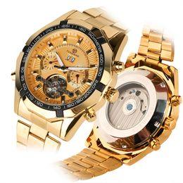 $enCountryForm.capitalKeyWord Australia - Watches Men Skeleton Automatic Mechanical Watch Gold Skeleton Vintage Clock Man Mens Watch Top Brand Luxury Relogio Masculino