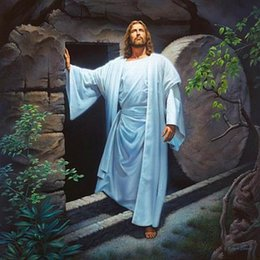 christ paintings UK - a038# Simon Dewey HE LIVES Jesus Christ Risen from the Grave Home Decor HD Print Oil Painting On Canvas Wall Art Canvas Pictures 200110
