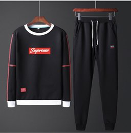 $enCountryForm.capitalKeyWord Australia - Large Size Tracksuit Men Set 2019 Brand Sporting Suit Track Sweat Print Sweatsuit Male Sportswear Jackets Hoodie with Pants