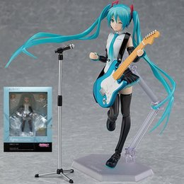 angels figures Australia - Miku Figma 394 Hatsune Miku DIY Assembly Guitar Angel Heroines PVC Action Figures toys Anime figure Toys For Kids children gifts