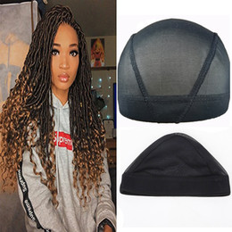 mesh hair weaving cap Canada - 5pcs lot Spandex Mesh Dome Wig Cap Easier Sew In Hair Stretchable Weaving Cap Glueless Hair Net Wig Liner Cheap Wig Caps For Making Wigs