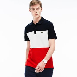 Chinese  HOT Fashion Crocodile Brand classic Men's polo T-shirts LAC10 France Famous Designer Summer short sleeve Lapel tees Luxurys Women Polos Tops manufacturers