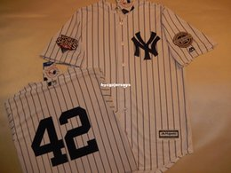cheap shirts for sale NZ - Cheap baseball NY #42 MARIANO RIVERA 2009 Top shirt Jersey WHITE New Mens stitched jerseys Big And Tall SIZE XS-6XL For sale