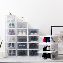 Modern toy storage online shopping - 1Pcs High capacity Shoes Chest Drawers Stackable Drawer Shoe Storage Box Plastic Drawers Shoe Box transparent Drawer