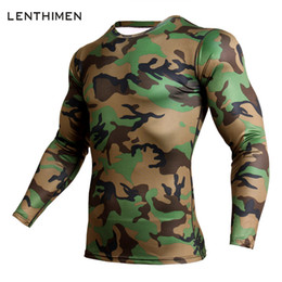 mens sports quick dry shirt Australia - New Camouflage Compression Sport Shirt Men Long Sleeve Quick Dry T Shirt Gym Fitness Top Clothing Mens Rashgard Soccer Jersey