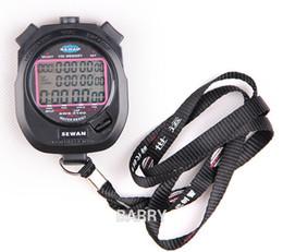 Wholesale SEWEAN Stopwatch SW8-3100 Digital Chronograph 1 100 second Sports stop watch Counter timer 3 row 100 memories Lap split