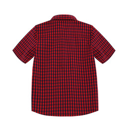$enCountryForm.capitalKeyWord UK - Boys Designer Shirts 2019 Summer New Luxury Baby T Shirt Casual Plaid Shirts Fashion Trend Short Sleeves Children Kids Clothes Thin Jackets