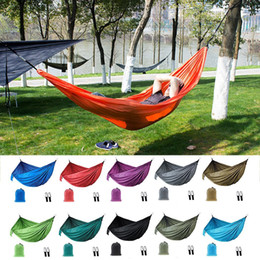 $enCountryForm.capitalKeyWord Australia - Portable Outdoor Camping Double Hammock 210T Parachute Nylon Indoor Casual Swing