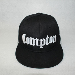 cae3da047e0cdf new fashion Compton embroidered hip-hop hat Snapback youth Outdoor sports  cap flat brimmed men tide Street dancer baseball hat