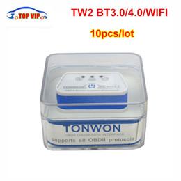 CheCk engine Code reader online shopping - 10pcs DHL free Tonwon Bluetooth Wi Fi Car Diagnostics Tool Scanner Check Vehicle Engine Code Reader OBDII Device