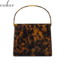 $enCountryForm.capitalKeyWord NZ - Caker Brand 2019 Women Acrylic handbags Fashion Colorful Leopard print Square Day Clutch day Bags