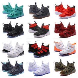 7387b6ed7d3 2019 designer shoes Lebron soldier 11 Black White Basketball Shoes for Men  soldier 11s EP Sports Training Sneakers Size us 7-12