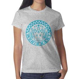 $enCountryForm.capitalKeyWord Australia - Womens design printing Mario Kart Crown logo grey t shirt printing undershirt vintage superhero champion shirts awesome t shirt sport tr