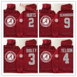 Ingrosso Mens NCAA Alabama Crimson Tide Jalen Hurts hoodie Calvi Ridley Bo Scarbrough Tua Tagovailoa Minkah Fitzpatrick Jaylen Waddle Alabama hoodie
