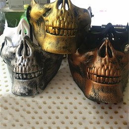 $enCountryForm.capitalKeyWord Australia - New arrival skull half face Halloween New Promotion Skull Half Face CS Military Skeleton Warrior 3 Generations Masquerade Mask