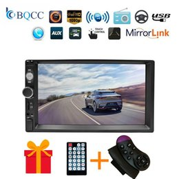 multimedia player camera UK - 2din Car Radio 7 Din Hd Touch Screen Multimedia Player 2 Auto Mp5 Bluetooth Usb Audio Car Stereo Tf Fm Camera Audio