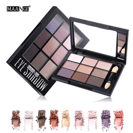 Smokey glitter eyeS online shopping - MAANGE Colors Eyeshadow Palette Shimmer Matte Pigment Waterproof Eye Shadow Cosmetics Nude Smokey Glitter Eye Nude Makeup Tool