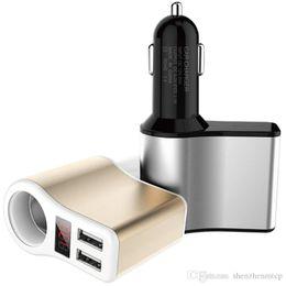 $enCountryForm.capitalKeyWord Australia - 3.1A Dual USB 12V 24V Car Charger Adapter Cigarette Lighter Socket LED Digital Voltmeter Ammeter Monitor