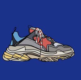 $enCountryForm.capitalKeyWord NZ - 2018 Fashion Paris Triple-S Sneaker Casual Luxury Dad Shoes for Men's Women Beige Black Sports Tennis Running Shoe