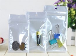 Best White Bags Australia - Best Quality Clear+ white pearl Plastic Poly OPP packing zipper Zip lock Retail Packages Jewelry food PVC plastic bag for usb cable earphone