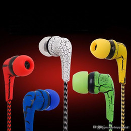 Cloth Wired Earphone Australia - factory price Reflective Music Cloth Line 3.5mm Jack Earbuds Stereo Wired Headset Earphone Microphone Headphone