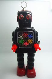 $enCountryForm.capitalKeyWord Australia - Classic collection Retro Clockwork Wind up Metal Walking Tin Gear High-wheel robot toy Mechanical toys kids christmas gift