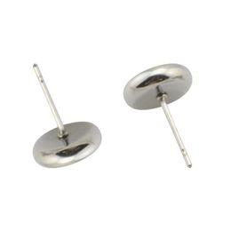 wholesale 38384smt2 Stainless Steel Earstud Fit 8mm 10mm 12mm Cameo Base  Cabochon Stud Earring Blank Bezel a01ec95340d0