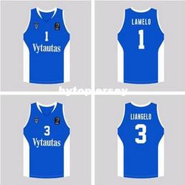 f1b31409d53 LaMelo Ball  1 LiAngelo Ball  3 Lithuania Vytautas Lavar Ball  99  Basketball Jersey Stitched XS-6XL vest Jerseys NCAA