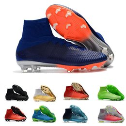 19732bf1923 CR7 Football Boots Mercurial Superfly V AG FG Soccer Shoes Mens Women  Outdoor Soccer Cleats Designer Shoes Size 39-46
