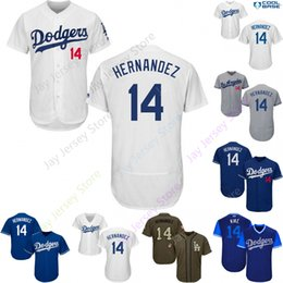Discount los angeles baseball - 2019 Los Angeles 14 Enrique Hernandez Jersey Dodgers Jerseys Cool Base Flexbase Home Away White Black Red Grey Pullover