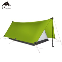 construction gear Australia - 3F UL GEAR 20D silnylon 2 Person Outdoor Ultralight Camping Tent Field survival Professional Rodless Tent 3 Season