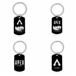 Cars Cartoon Games Australia - Apex Legends Keychain Hot Game Figures Key Rings Black Stainless Steel Engraved Logo Keychains Car Key Holder Fashion Jewelry