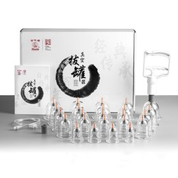 Acupuncture kits online shopping - Hwato vacuum cupping massage cupping therapy set suction cup acupuncture therapy kit vacuum cans acupuncture vacuum banks