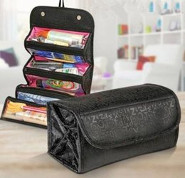 Cosmetic Bags Compartments Australia - Cosmetic Bag Makeup Tools Bag Fashion Female Makeup Hanging Loop Women Toiletries Case Jewelry Organizer Zipped Compartment #138435